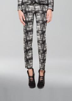 Akris punto Franca Crosshatch-Print Pants