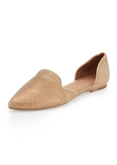 Joie Florence Shimmery d'Orsay Flat, Rose Gold