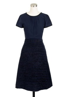 Collection navy tinsel tweed dress
