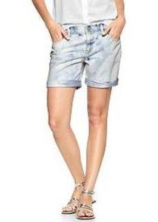 1969 bleached sexy boyfriend denim shorts