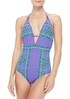 Nanette Lepore Moroccan Medallion Goddess One-Piece Swimsuit