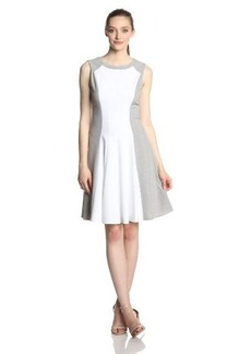 Calvin Klein Women's Sleeveless Color Block Flare Dress
