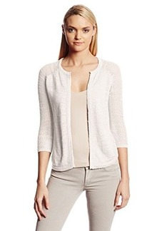 Lucky Brand Women's Monrovia Pointelle 3Rd Piece Sweater