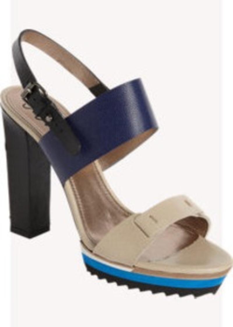 Lanvin Colorblock Slingback Sandal