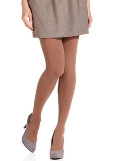 HUE Ribbed Opaque Tights with Control Top Tights