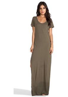 Michael Stars Tee Shirt Maxi Dress in Olive