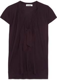 Jil Sander Stretch-silk satin top