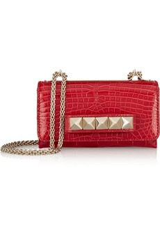 Valentino Va Va Voom glossed-alligator shoulder bag