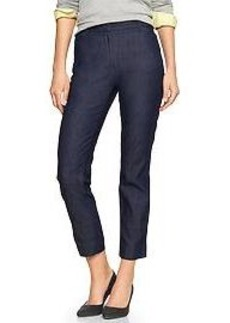 Slim cropped chambray pants
