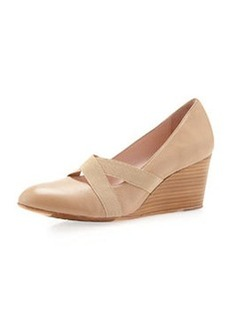 Taryn Rose Kimber Napa Leather Wedge, Camel