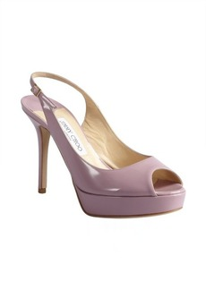 Jimmy Choo peony patent leather 'Moon' peep toe slingbacks