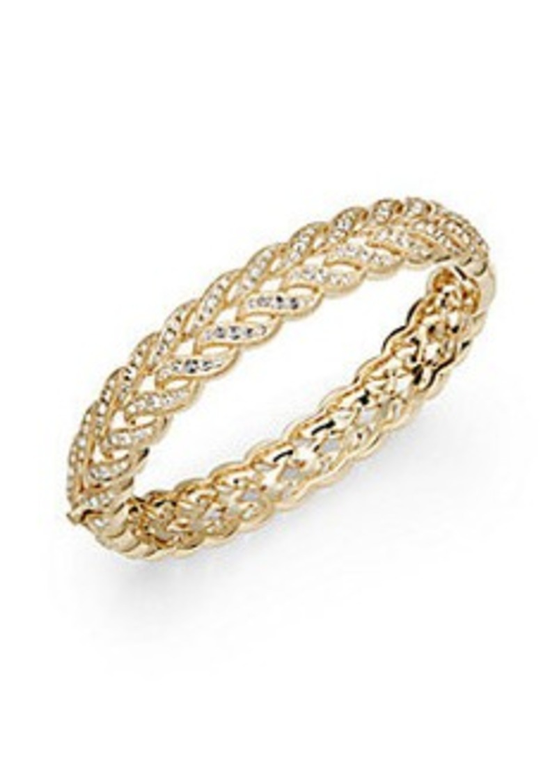 Adriana Orsini Leaf Hinge Bangle Bracelet