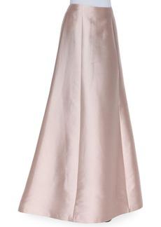 Kay Unger New York Wool-Silk A-Line Long Full Skirt