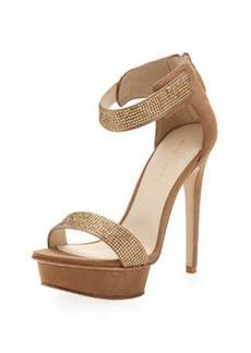 Pelle Moda Ardina Rhinestone Sandal, Latte