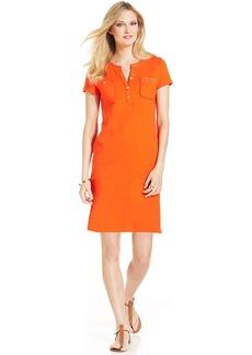 Jones New York Signature Short-Sleeve Henley Dress