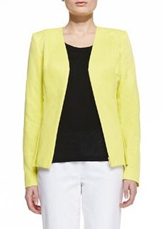 Lafayette 148 New York Lana V-Neck Zip Jacket