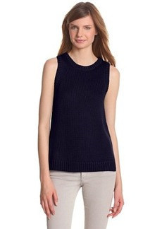 Design History Women's Textured Stitch Sleeveless Sweater