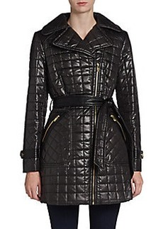 Via Spiga Belted Quilt Trench