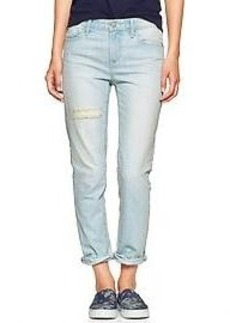 1969 mid-rise destructed real straight skimmer jeans