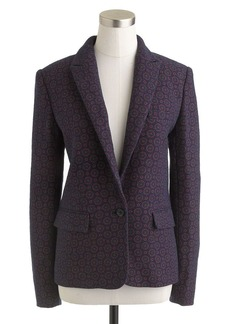 Collection printed tweed blazer