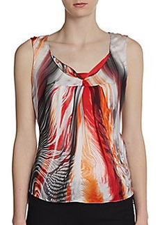 Elie Tahari Regan Printed Silk Tank
