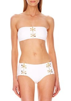 Lace-Up Bandeau Bikini   Lace-Up Bandeau Bikini