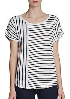 French Connection Short-Sleeve Mixed-Stripe Tee