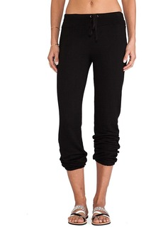 Splendid Soft Melange French Terry Sweatpant in Black