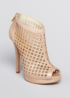 MICHAEL Michael Kors Peep Toe Platform Caged Booties - Graham High Heel