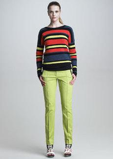JASON WU Classic Stovepipe Pants, Lime