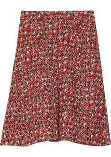 Marni Printed stretch flax-blend skirt