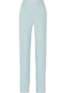 Oscar de la Renta Slub-silk pants