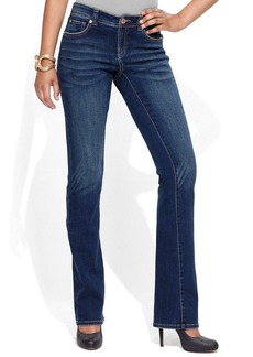 INC International Concepts Petite Jeans, Narrow Bootcut, Percy Wash