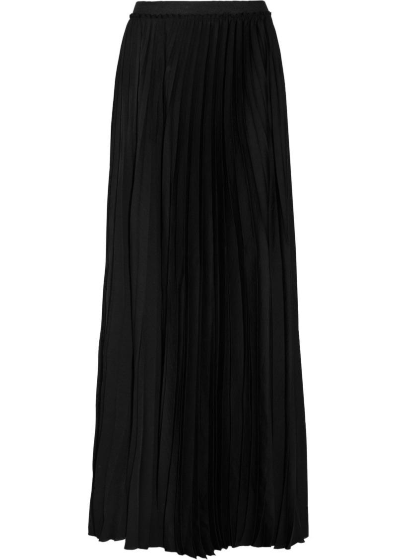 enza costa enza costa pleated satin maxi skirt skirts