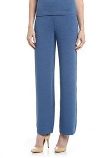 St. John Santana Knit Stove-Cut Pants, Bristol Blue