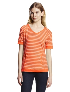 Jones New York Women's Short Sleeve Raglan V-Neck Hoodie