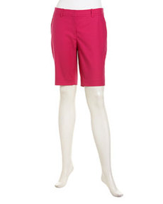 Lafayette 148 New York Metro Stretch Shorts, Glam Pink