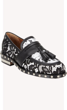 Givenchy Macramé Lace Tassel Loafers
