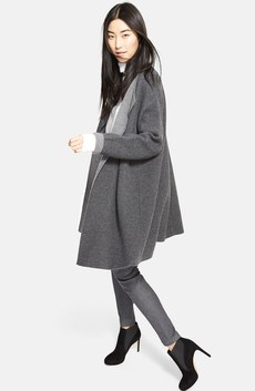 Nordstrom Signature Coat, Turtleneck & St. John Collection Leggings