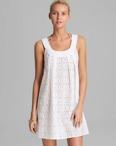 Shoshanna Wilson Lake Eyelet Cover Up Dress