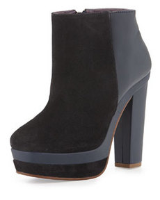Kooba Vienna Suede/Leather Bootie, Navy
