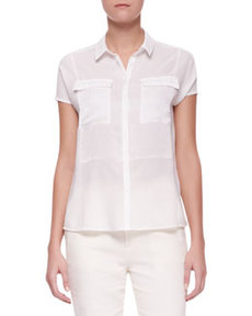 Nyberg Georgette Short-Sleeve Blouse   Nyberg Georgette Short-Sleeve Blouse