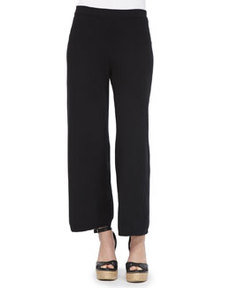 Joan Vass Knit Wide-Leg Pants