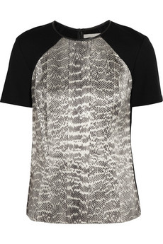 Jason Wu Snake-print stretch-jersey top