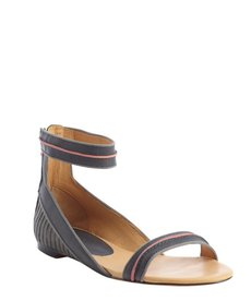 L.A.M.B. grey leather buckle strap 'Ciara' sandal