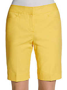 Lafayette 148 New York Metropolian Stretch Cotton Shorts