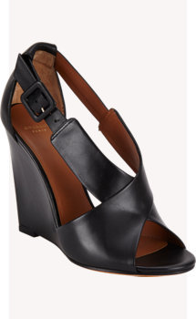 Givenchy Crisscross Wedge Sandals
