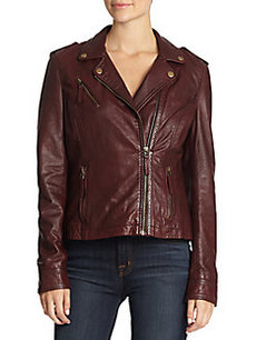 MARC NEW YORK by ANDREW MARC Brynn Leather Biker Jacket