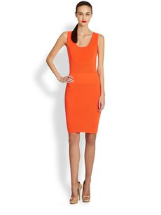 Akris Punto Knit Stretch Wool Sheath Dress