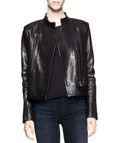 Robyn Crackled Leather Jacket   Robyn Crackled Leather Jacket